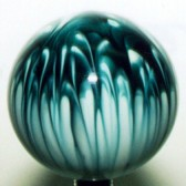 Shift Knob | Teal Abstract Design #AD-5