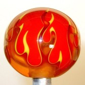 Shift Knob | Multi-Color Flame | Amber Flame on Red #FL5-82