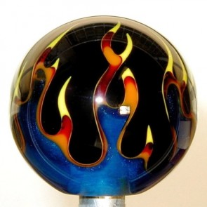 Multi-Color Flame: Blue Flame on Black